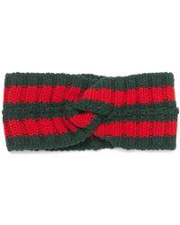Gucci - Wool Web Headband - Lyst