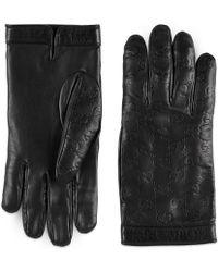 Gucci - Handschuhe Signature - Lyst