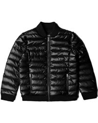 Guess - Faux-leather Puffer Jacket (7-18) - Lyst