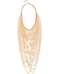 Guess | Kimber Pearl Drama Necklace | Lyst