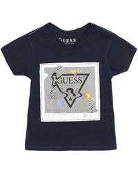 Guess - Abstract Logo V-neck Tee (2-7) - Lyst