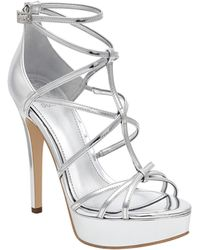 Guess - Kico Strappy Platform Heels - Lyst