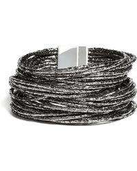 Guess - Millie Hematite-tone Wrap Bracelet - Lyst
