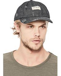 Guess | Denim Logo Baseball Hat | Lyst