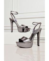 Guess - Empress Metallic Platform Heels - Lyst