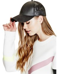 Guess - Coated Twill Baseball Hat - Lyst