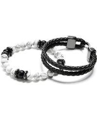 Guess - Howlite Beaded Bracelet Set - Lyst