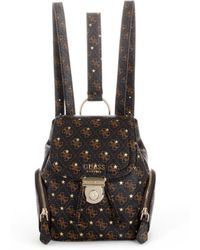 Guess - Affair Small Logo-print Backpack - Lyst