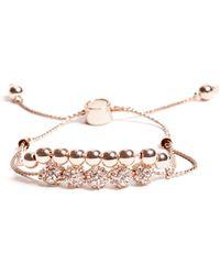Guess - Brilla Rose Gold-tone Slider Bracelet - Lyst