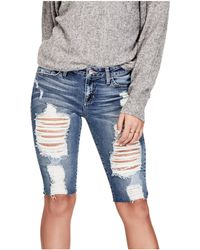 Guess - Destroyed Raw-cut Bermuda Shorts - Lyst