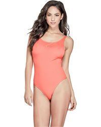 Guess - One-piece Logo Swimsuit - Lyst