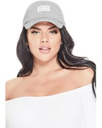 Guess - Knit Sparkle Baseball Hat - Lyst
