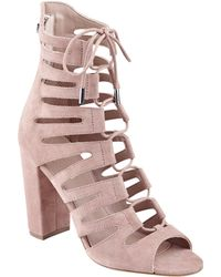 Guess - Cesara Lace-up Heels - Lyst