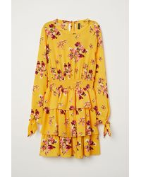 H&M - Flounced Dress - Lyst