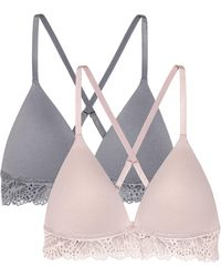 656f430f165ce H M 2-pack Non-wired Bras in Gray - Lyst