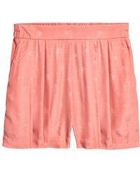 H&M - Jacquard-weave Shorts - Lyst