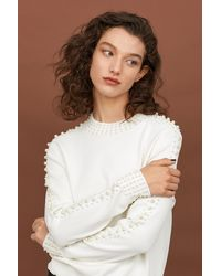 H&M - Bead-embroidered Sweater - Lyst