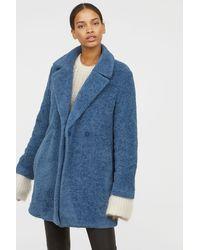 H&M - Knit Coat - Lyst