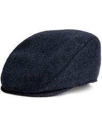 H&M - Wool-blend Flat Cap - Lyst