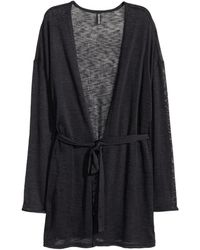 H&M | Cardigan With A Tie Belt | Lyst