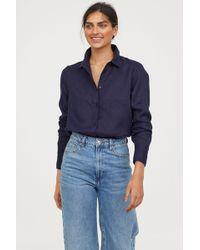 H&M - Linen Shirt - Lyst