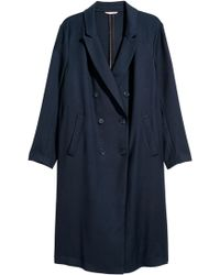 H&M - + Double-breasted Coat - Lyst
