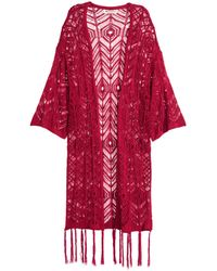 H&M | Fringed Lace-knit Cardigan | Lyst