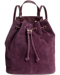 H&M - Backpack With Suede Details - Lyst