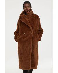 H&M - Faux Fur Coat - Lyst