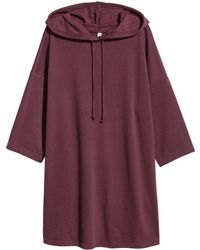 H&M | Hooded Sweatshirt Dress | Lyst