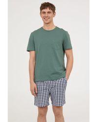 H&M - Pyjama T-shirt And Shorts - Lyst