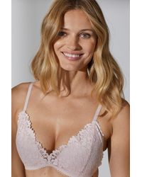 7a98ddc1f094f H M - Non-wired Lace Push-up Bra - Lyst