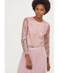 H&M - Lace Blouse - Lyst