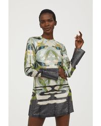 H&M - Lyocell And Silk Dress - Lyst