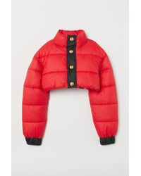 H&M - Cropped Padded Jacket - Lyst