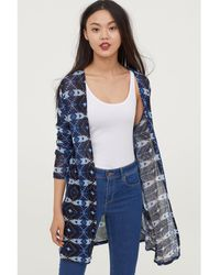 H&M - Patterned Cardigan - Lyst