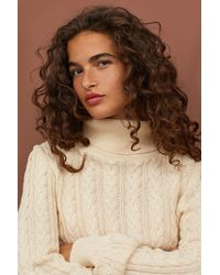H&M - Cable-knit Polo-neck Jumper - Lyst