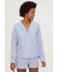 H&M - Pajama Shirt And Shorts - Lyst