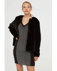 H&M - V-neck Jersey Dress - Lyst