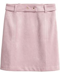 H&M - Faux Suede Skirt - Lyst