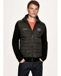 Hackett - Wool-blend Quilted Front Hoodie - Lyst