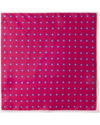 Hackett - Square Print Silk Pocket Square - Lyst