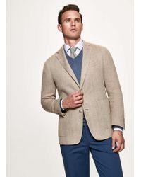 d84a9de85502 Hackett Summer Tweed Double Breasted Jacket in Blue for Men - Lyst