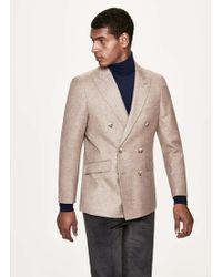 Hackett - Shetland Wool-blend Double Breasted Blazer - Lyst