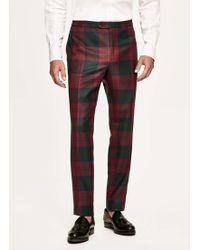 Hackett - Tartan Wool Evening Trousers - Lyst