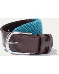 Hackett - Woven And Leather Belt - Lyst