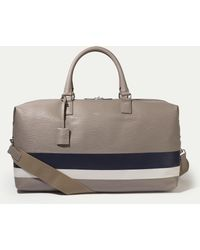 Hackett - Curzon Leather Stripe Holdall - Lyst