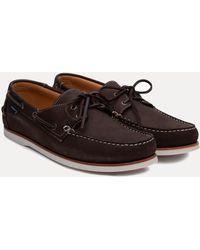 Hackett - Nubuck Leather Deck Shoes - Lyst