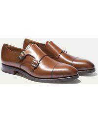 Hackett - The Double Monk Strap Shoe - Lyst
