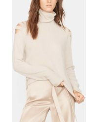Halston - Turtleneck Sweater With Cut Outs - Lyst